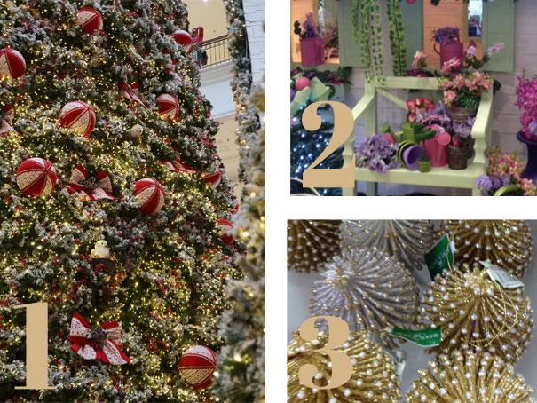 decoracao arvore de natal vermelho e dourado:Decoração Natalina