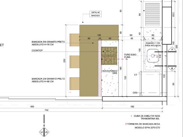Natália Noleto  Arquitetura e Interiores # Altura Minima De Bancada De Cozinha