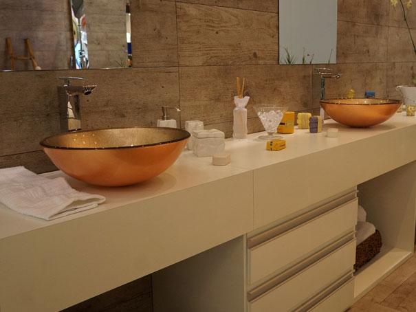 banheiros  Natália Noleto  Arquitetura e Interiores -> Cuba Para Banheiro Dourada