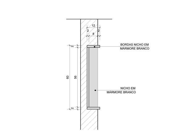 Natália Noleto  Arquitetura e Interiores -> Nicho Banheiro Box Medidas