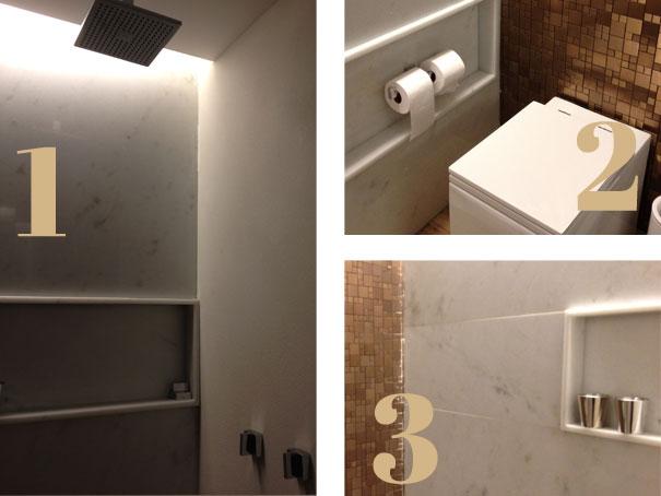 Acabamento  Natália Noleto  Arquitetura e Interiores -> Acabamento Do Nicho Do Banheiro